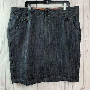 Boom boom Jean skirt plus size 3X